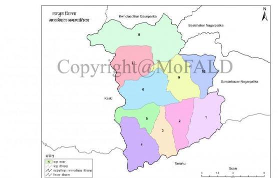 मध्यनेपाल नगरपालिकाको नक्शा